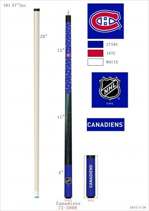 Montreal Canadiens Pool Cue