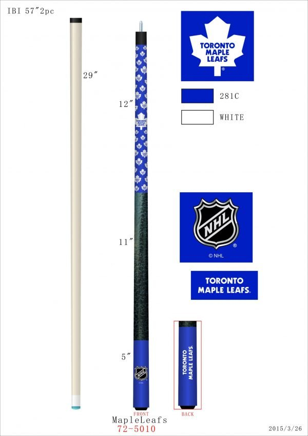 Toronto Maple Leafs Pool Cue