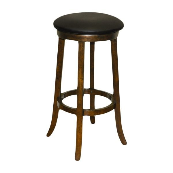 Antique Walnut Backless Barstool