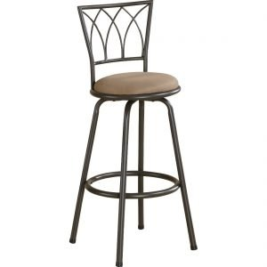 Brown Swivel Bar Stool