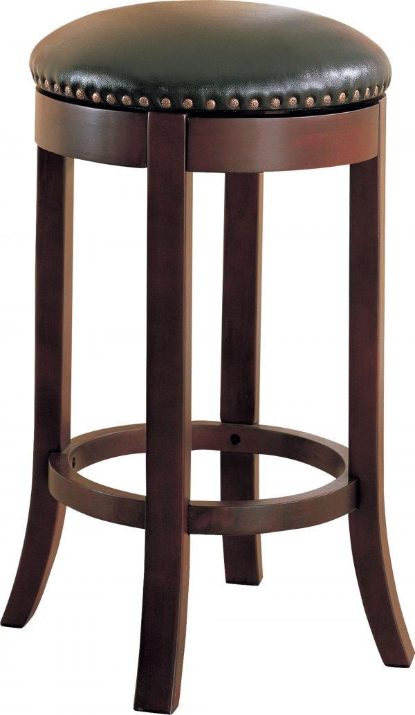 Brown Cushioned Stool