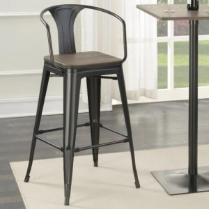 Wood Top Barstool