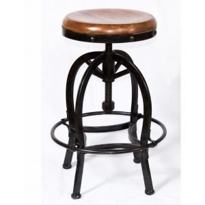 Adjustable Wood Seat Backless