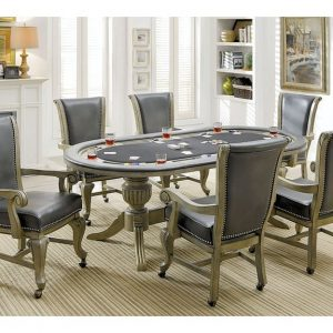 Melody Poker Table Grey