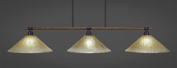 Black Smith Lights Amber Glass