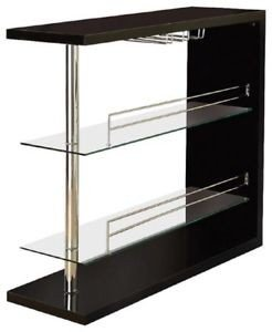 Contemporary Bar, Glossy Black Rectangular