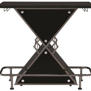 Contemporary Bar, Glossy Black Triangle