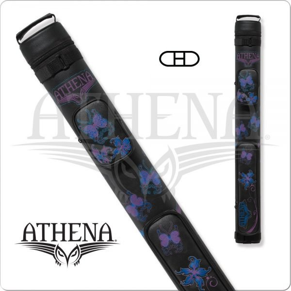 Athena 2x2 Black Hard Embroidered Cue Case