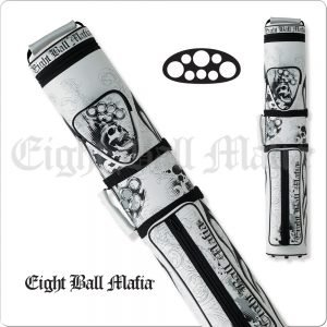 Action Eight Ball Mafia White 3x5 Hard Cue Case