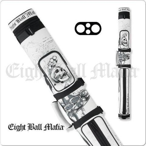 Action Eight Ball Mafia White  2x2 Hard Cue Case