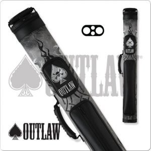 Outlaw 2x2 Black Tire Tread Hard Cue Case