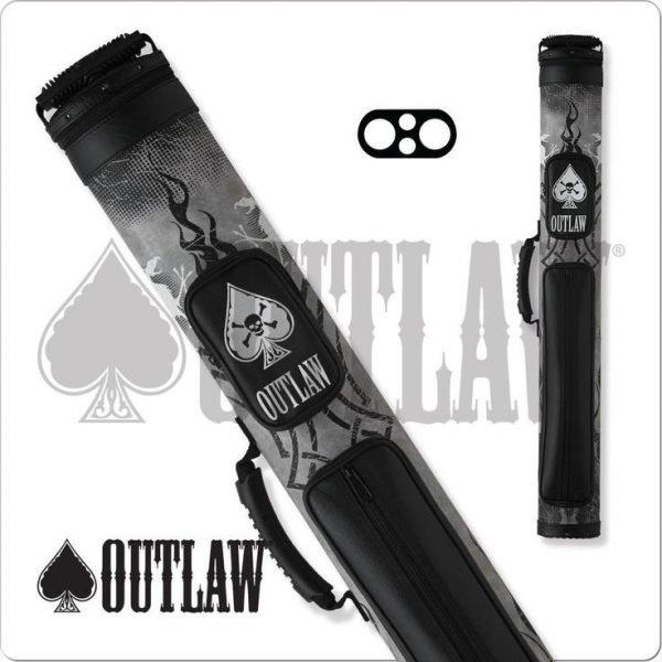 Outlaw 2x2 Black Tire Tread Hard Cue Case
