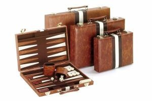 Brown and White Backgammon SMALL