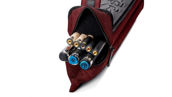 Predator Urbain Red Hard Pool Cue Case - 3 Butts x 5 Shafts