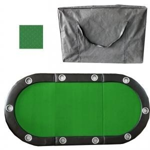 Tri-Fold Poker Table With Speed Cloth & Carrying Case