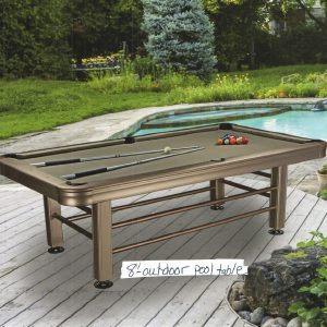 Champagne Outdoor Pool Table