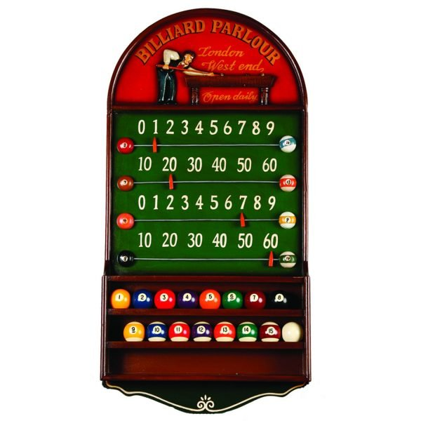 Billiard Parlor Scoreboard & Ball Holder