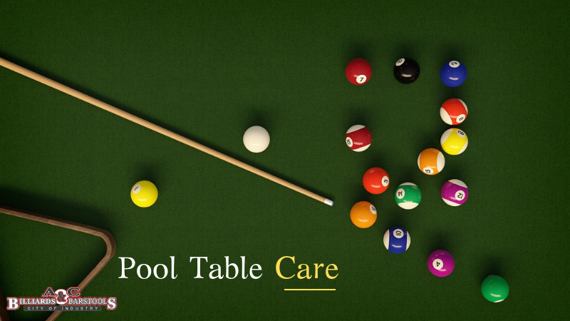 Pool Table Care