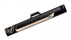Predator Roadline Black/Beige Hard Pool Cue Case - 2 Butts x 2 Shafts