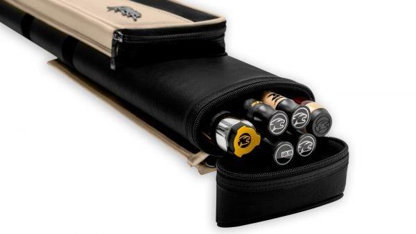 Predator Roadline Black/Beige Hard Pool Cue Case - 2 Butts x 4 Shafts