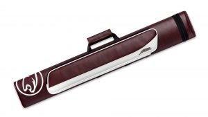 Predator Roadline Burgundy/White Hard Pool Cue Case - 2 Butts x 4 Shafts