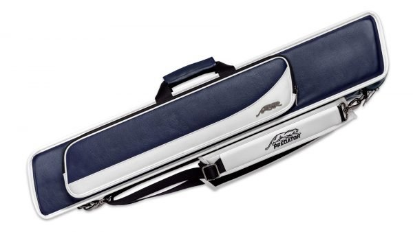 Predator Roadline Blue/White Soft Pool Cue Case - 4 Butts x 8 Shafts