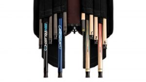 Predator Roadline Burgundy/White Soft Pool Cue Case - 4 Butts x 8 Shafts